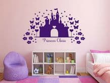 "PERSONALISED Wall Sticker ""Princess"" Customised Children Decal Decor Transfer"